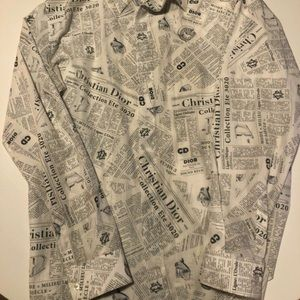Dior Tops - Dior Newspaper Button Down Size 40 M-L